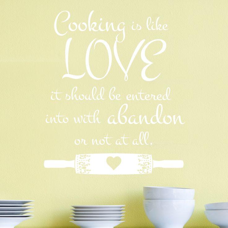 19 best Kitchen Decals images on Pinterest | Kitchen decals, Wall ...