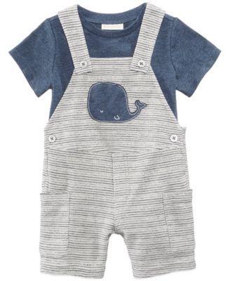9d18e586aad60 First Impressions 2-Pc. T-Shirt & Whale Shortfall Set, Baby Boys,, Created  for Macy's