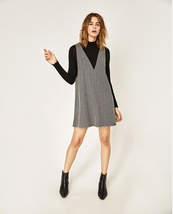 ZARA - WOMAN - HERRINGBONE DRESS