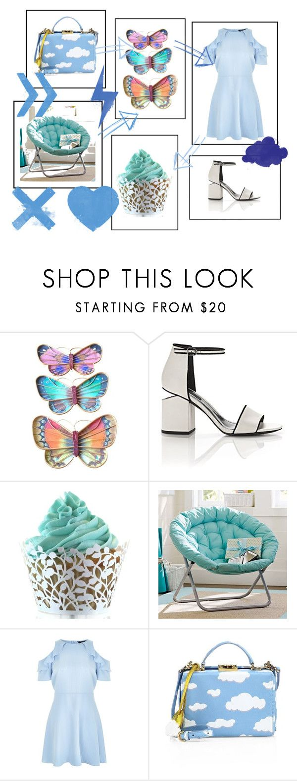 """""""Signo Aquarium"""" by rebecioatto on Polyvore featuring Alexander Wang, PBteen, New Look e Mark Cross"""