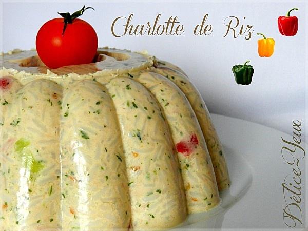 Charlotte de riz, thon, poivrons, olives noires {Tupperware®}