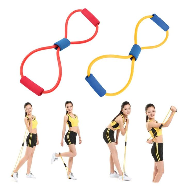 2Pc Resistance Bands band sport elastico para exercicios Yoga Pilates Abs Exercise Stretch Fitness equipment Tube Workout Bands