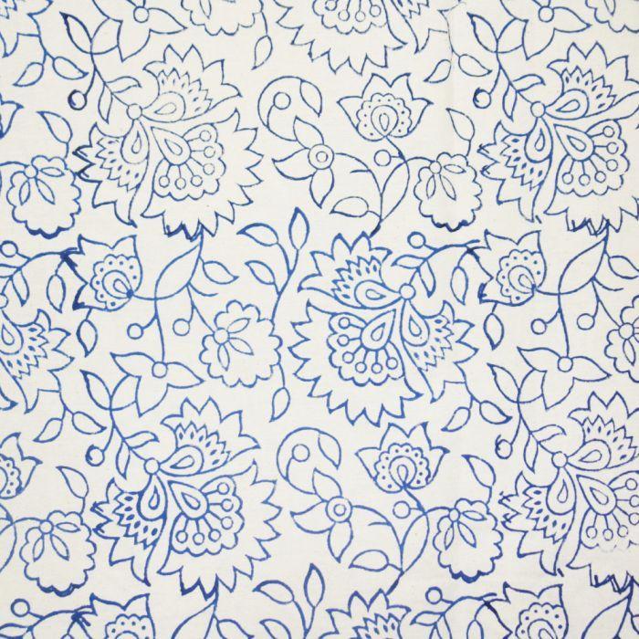 Hand Block Leaves Printed Fabric - SJ-HBP-34 in 2019