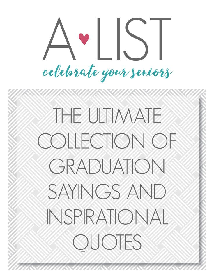 Graduation is right around the corner, time to start thinking about how you're going to decorate your graduation cap. Start with one of these grad quotes. https://www.alistgreek.com/2017/04/26/top-13-short-quotes-for-your-graduation-cap/?utm_campaign=coschedule&utm_source=pinterest&utm_medium=A-List%20Greek%20Designs&utm_content=Top%2013%20Short%20Quotes%20for%20Your%20Graduation%20Cap