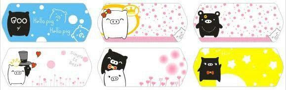 Monokorobo sebuah karakter babi hitam dan putih akhirnya mulai merambah ke berbagai prodak termasuk plester luka