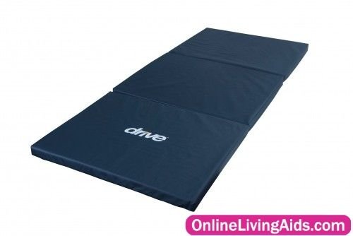 Drive Medical - 14700 - Tri-Fold Bedside Fall Mat 72X3 0X2