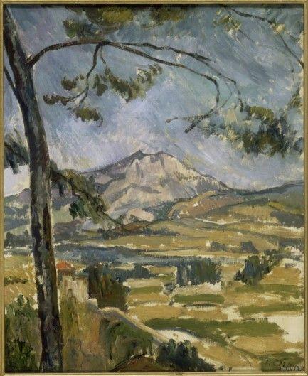 [유화물감과 주석튜브의 개발] <생트 빅투아르 산> - 폴 세잔: 생트 빅투아르 산을 그린 세잔의 많은 작품 중 하나이다. 이 그림에서 나타나는 위 아래로 흔들리는 듯 한 느낌은 그가 생트 빅투아르 산을 여러 시점에서 관찰하여 종합적인 의미로 그렸기 때문이라고 한다. 흔들리고 있는 듯한 나뭇가지에서 생동감이 느껴진다.
