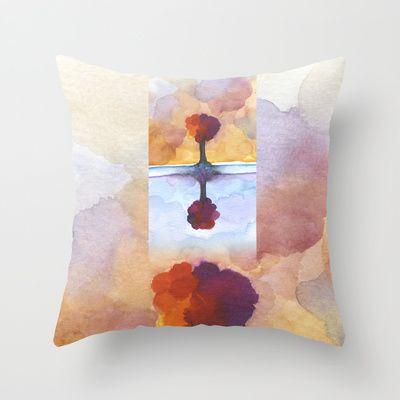 As Above So Below  No15 Throw Pillow by Marina Kanavaki - $20.00