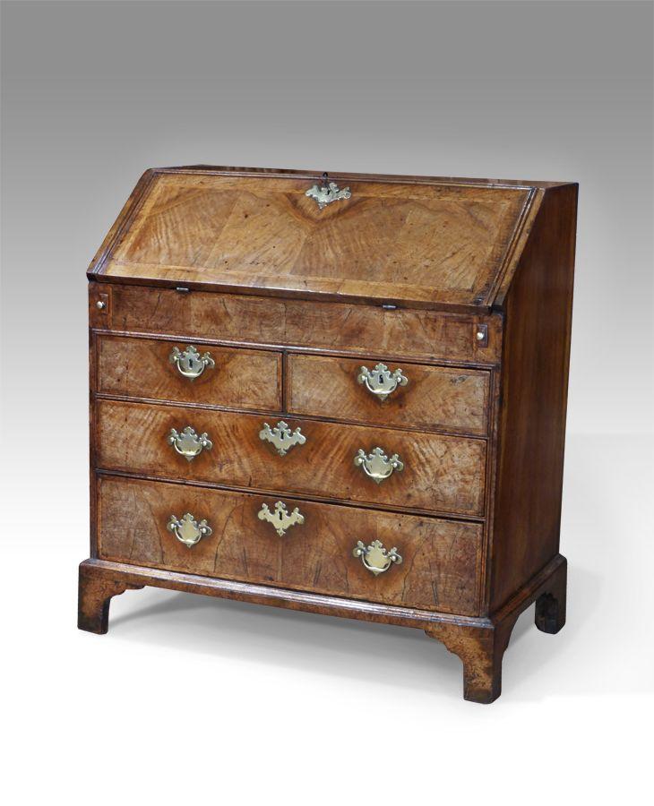 Queen Anne Walnut Bureau 3800 Desks Office Walnut Study Furniture Styles Pinterest