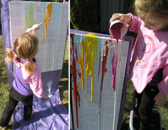 Drip Paint Art  Super Easy For Kids And Man, That Would Look Awesome In