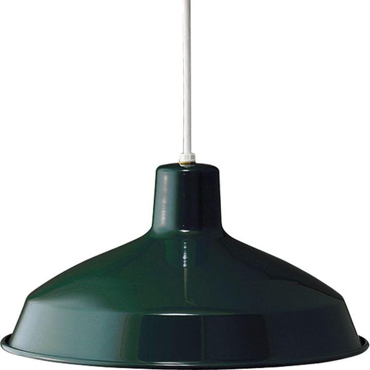 Progress Lighting 1-Light Dark Green Pendant