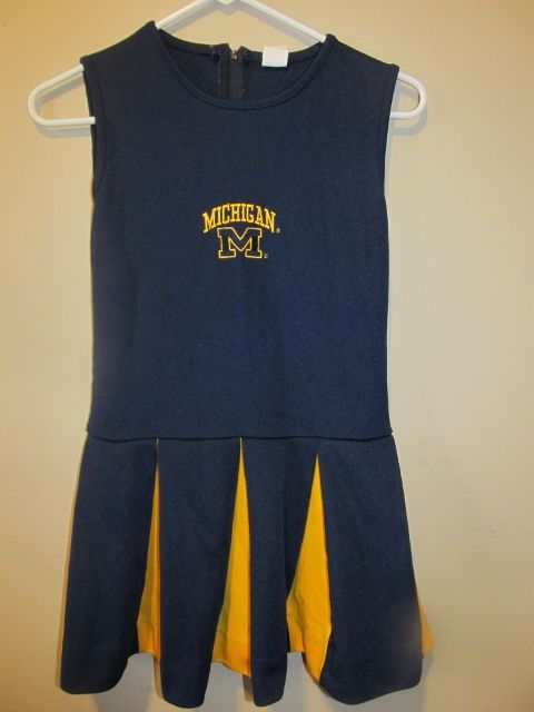 Michigan Wolverines Cheerleader outfit , Girls size 10
