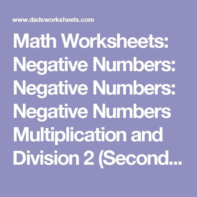 Pre School Worksheets : ordering negative numbers worksheets ks2 ...