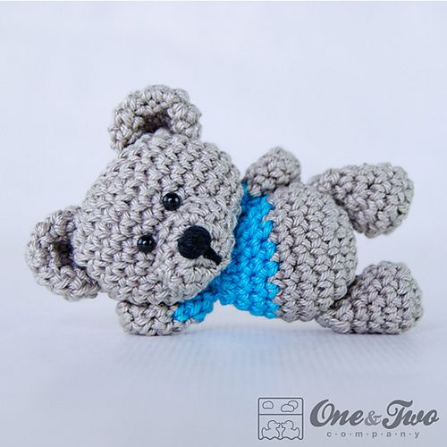 Free crochet pattern, Sam the Little Teddy Bear from One and Two Company