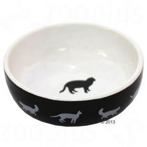 Cats Black & White keramikskål