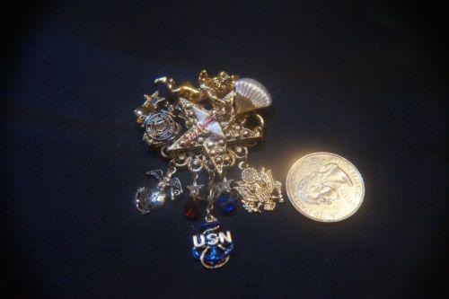 Kirks-Folly-Vtg-Pin-Rare-Navy-Coast-Guard-Military-dangles