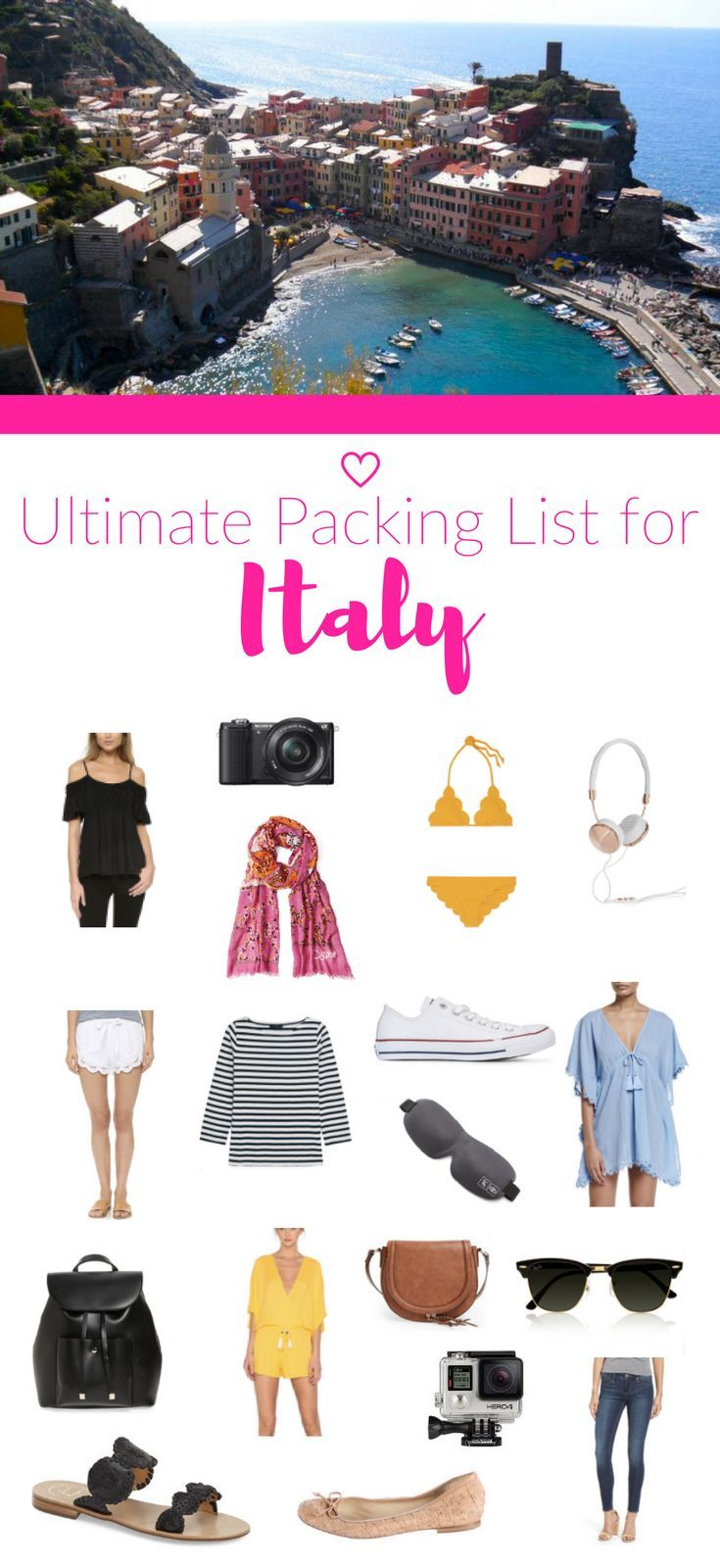 Don't know what to pack for your trip to Italy? Check out the Ultimate Packing List for Italy in the summer!