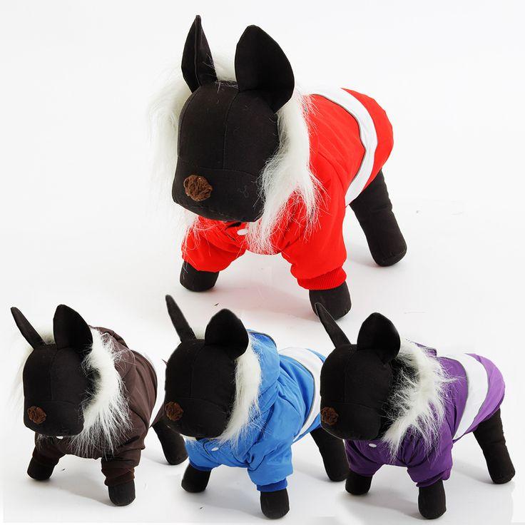 Зимние одежда для собак Pet потепление детский зимний комбинезон собака одежда зима теплая пальто размер S / M / L / XL 4 цвета