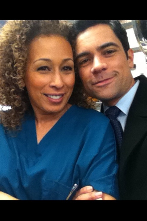 Tamara Tunie & Danny Pino  aka Dr. Melinda Warner & Nick Amaro   Pretty much the cutest pic ever! :)