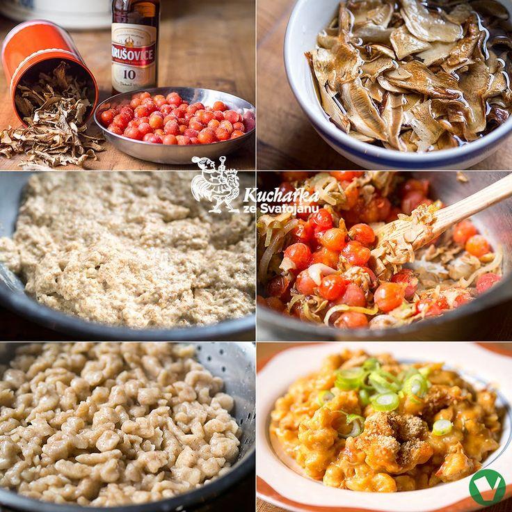 Kuchařka ze Svatojánu: PIVNÍ HALUŠKY S HOUBOVOU OMÁČKOU