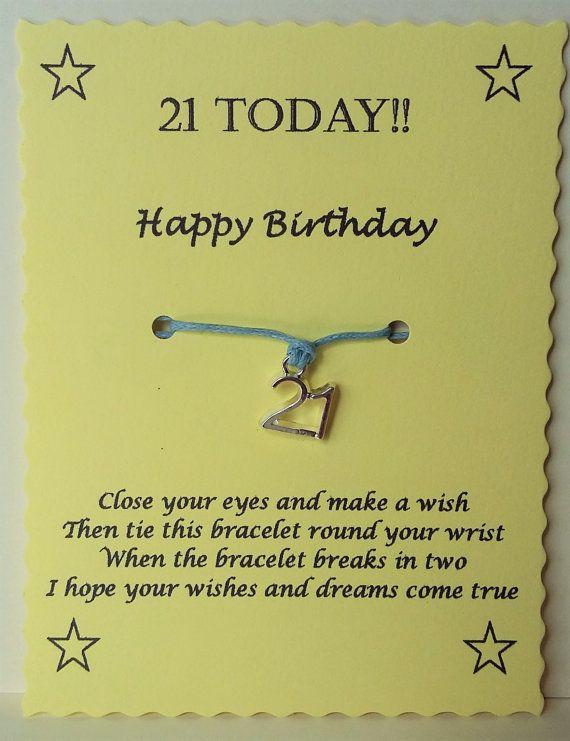 21st Birthday Gift Birthday Friendship Bracelet by GemsNJewells