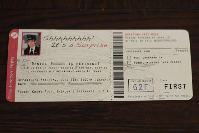 DIY Airplane ticket invitations! Airplane crafts Pinterest - airplane ticket invitations