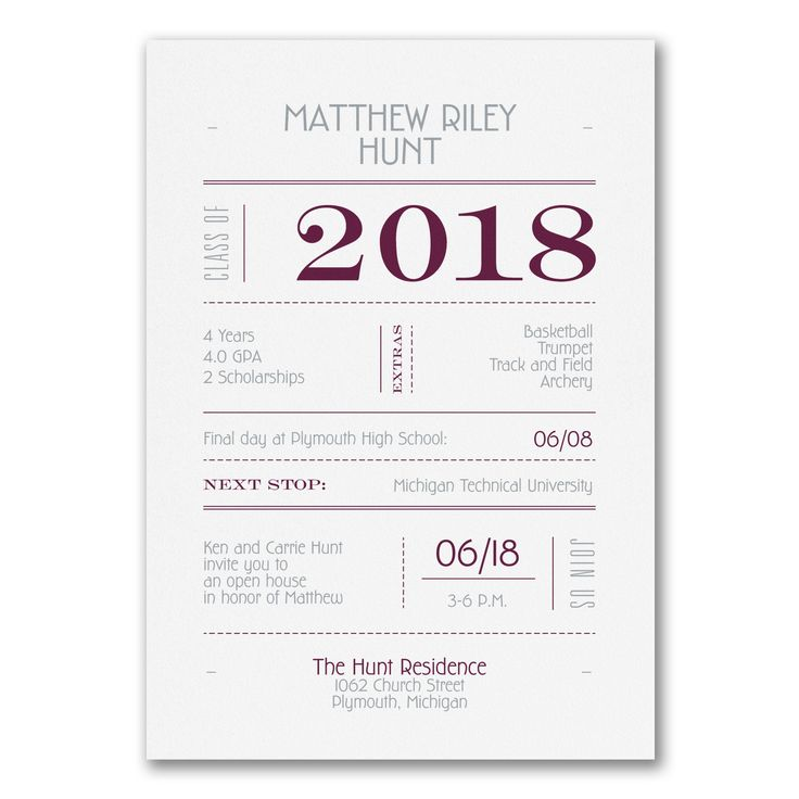 50 best 2018 Graduation Invitations and Announcements