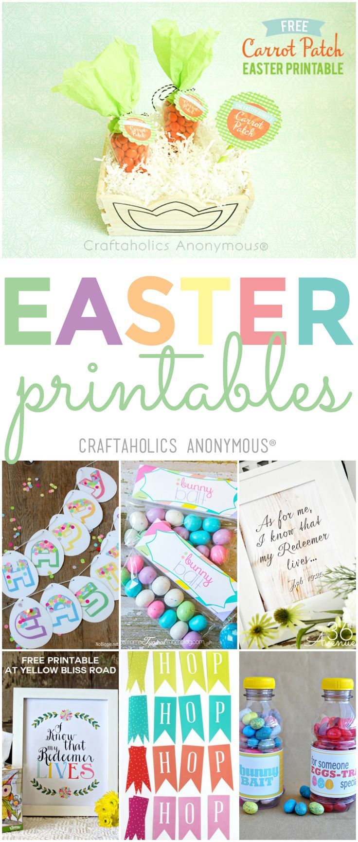 Free Easter Printables for decoration and fun   – OT PT SLP Therapy