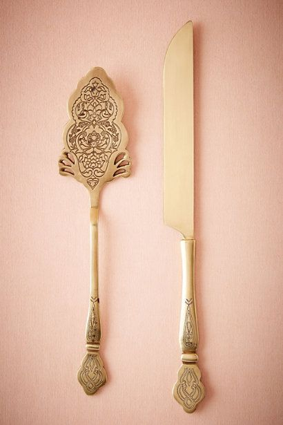 BHLDN Filigreed Serving Set in  Décor Cake Accessories at BHLDN