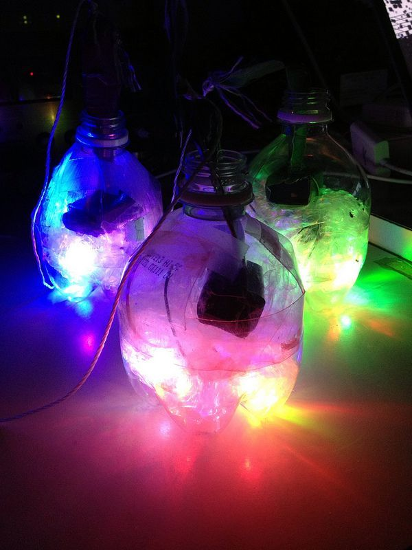 LED Glow Poi - make your own #reuse #upcycle #lighting #photography