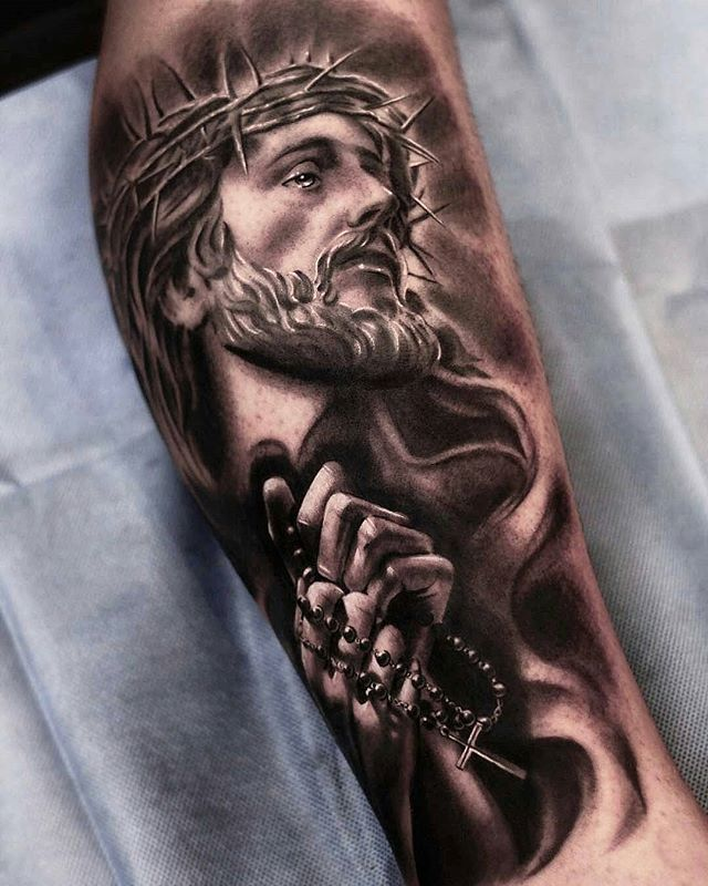 Pin By Gwen Neal On Christ Tattoo Jesus Tattoo Praying Hands