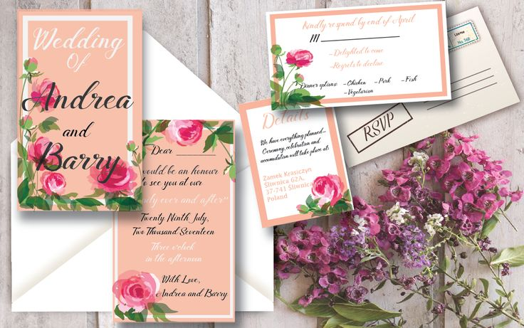 Pinky peach wedding stationery with a touch of vintage but still modern!