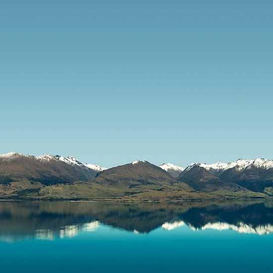 Blue Reflections of mountains