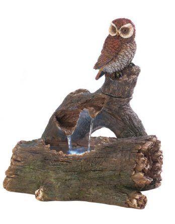 OWL PERCH OUTDOOR FOUNTAIN