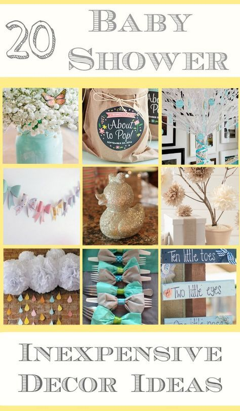 diy decorating ideas for a baby shower