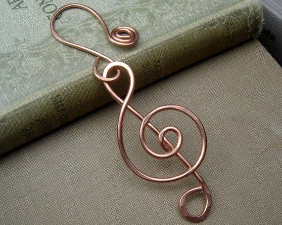 Treble Clef Copper Ornament  for the Music by nicholasandfelice, $14.50