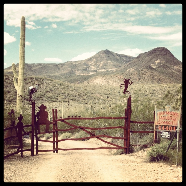 A gate by Spur Cross Ranch, in Cave Creek, AZ