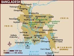 Resultado de imagen de bangladesh mapa