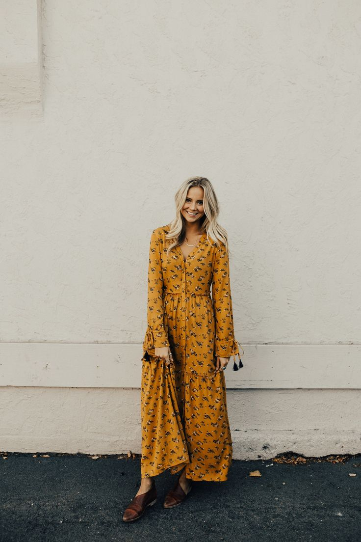 Golden Floral Maxi Dress | ROOLEE