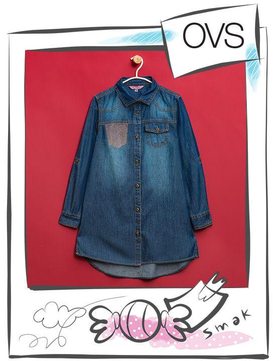 Camicia in jeans http://www.ovs.it/camicia-di-jeans-finta-tasca-con-strass/001502190.html?dwvar_001502190_color=148&dwvar_001502190_size=011#start=10&cgid=Bambino_2_2016-Ragazza-(9-14-anni)_2_2016-Camicie_2_2016