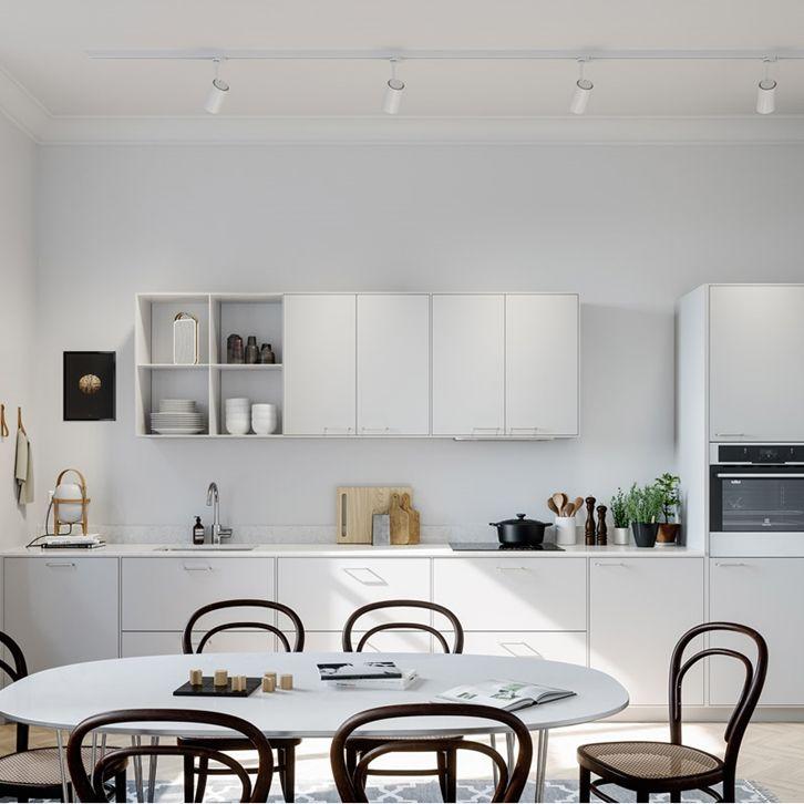 Slätt kök i färgen Pärlgrå - System 10 Bistro