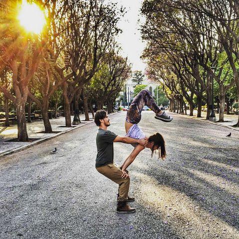 How we spend our Active #Sundays. What we sport: Glutenfree Leggings. #wecreateharmony #glutenfreeleggings #yoga #yogis #instafit  Shop the Activewear collection here:  http://bit.ly/1MgrMN4