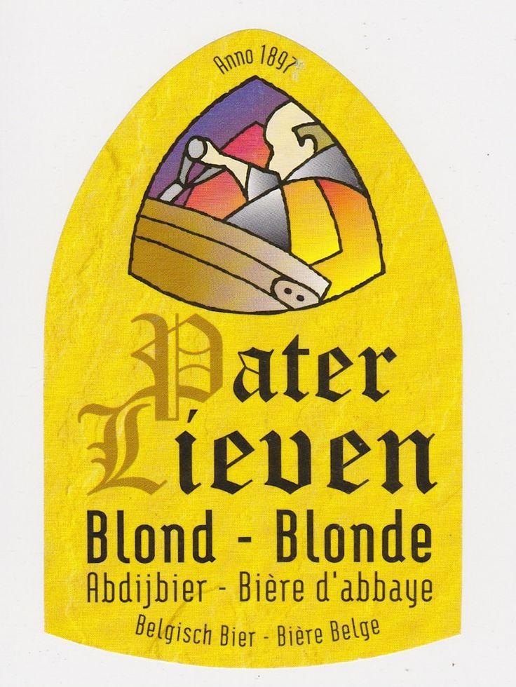 Pater Lieven Blond, Belgian Ale 6,5 % ABV (Van Den Bossche, Bélgica) #label