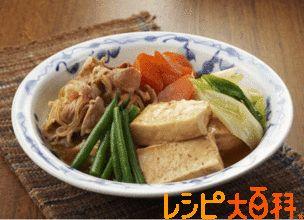 豚こま切れ肉で作る肉豆腐