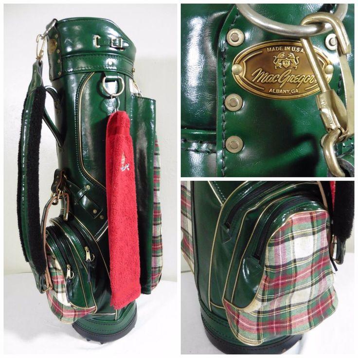 Vintage MacGregor Golf Staff Bag Green & Plaid with Rain & Head Covers Made USA #MacGregor #VintageRetro