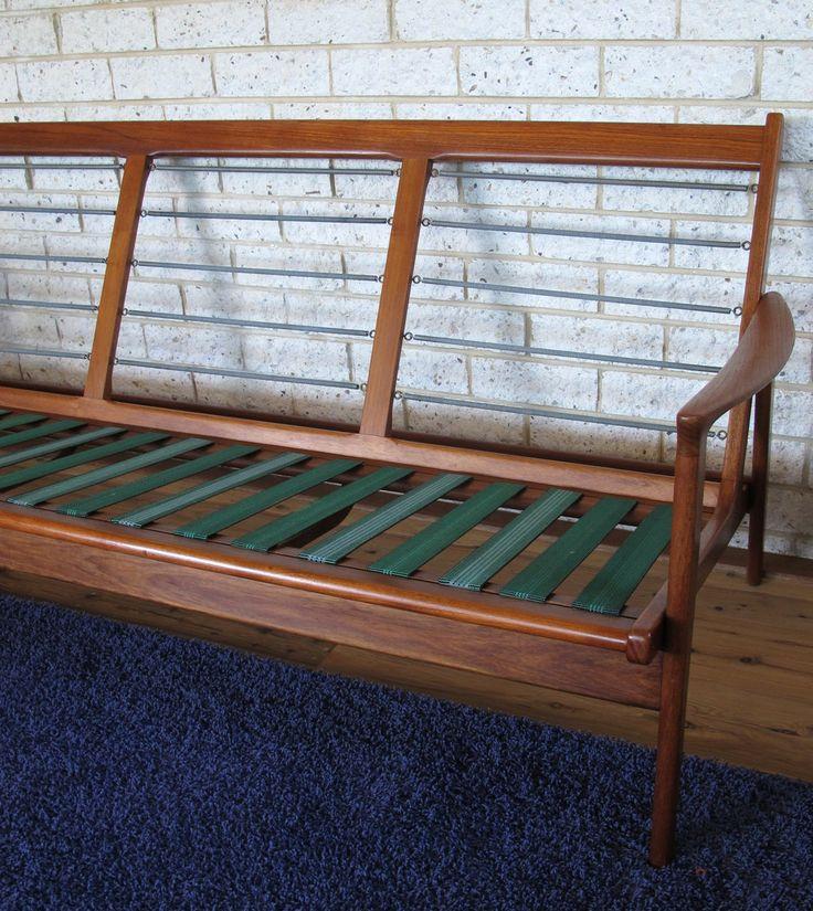 Parker Furniture. Mid Century Danish. Restored three seater lounge.