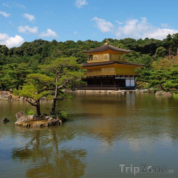 Fotka, Foto Kjóto, zlatý pavilon Kinkakudži (Japonsko)