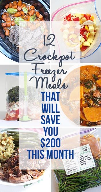 12 Crockpot Freezer Meals That Will Save You $200 This Month! Meal planning and freezer meals will save you money on your grocery budget! | www.thirtyhandmadedays.com