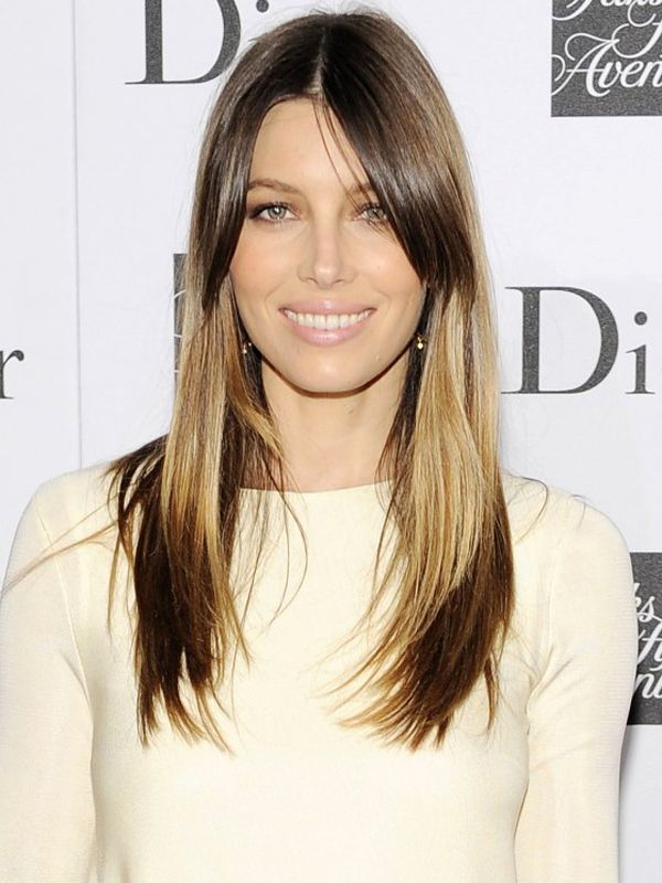 Jessica Biel splashlights hair colour: http://beautyeditor.ca/2013/12/02/splashlights-hair-trend/