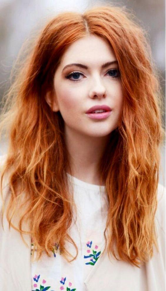 penteados cabelos vermelhos